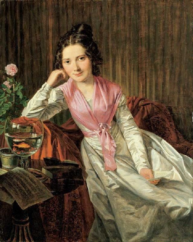 Bild:  Ferdinand Georg Waldmüller - Die Schauspielerin Therese Krones (1801-1830)