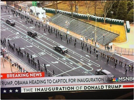 """Looks like the bleachers are full of.....one person it seems. Hmmmmmmmmm. #NoSupport #TheResistance #illegitimatePresident #Inauguration   The inauguration was quite an eye opener. The only time I'd seen protests on around the same scale was when Bush Jr had his inauguration-   If one this is very clear the US voting system needs to be addressed so that you don't get a situation where millions of votes are essentially ignored which results in the """"loser"""" for want of a better word being…"""