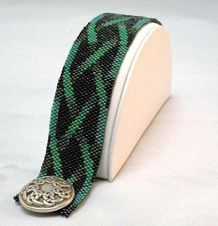 great peyote stitch bracelet art.