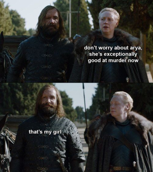 The Hound and Brienne, 7.7 Game of Thrones.