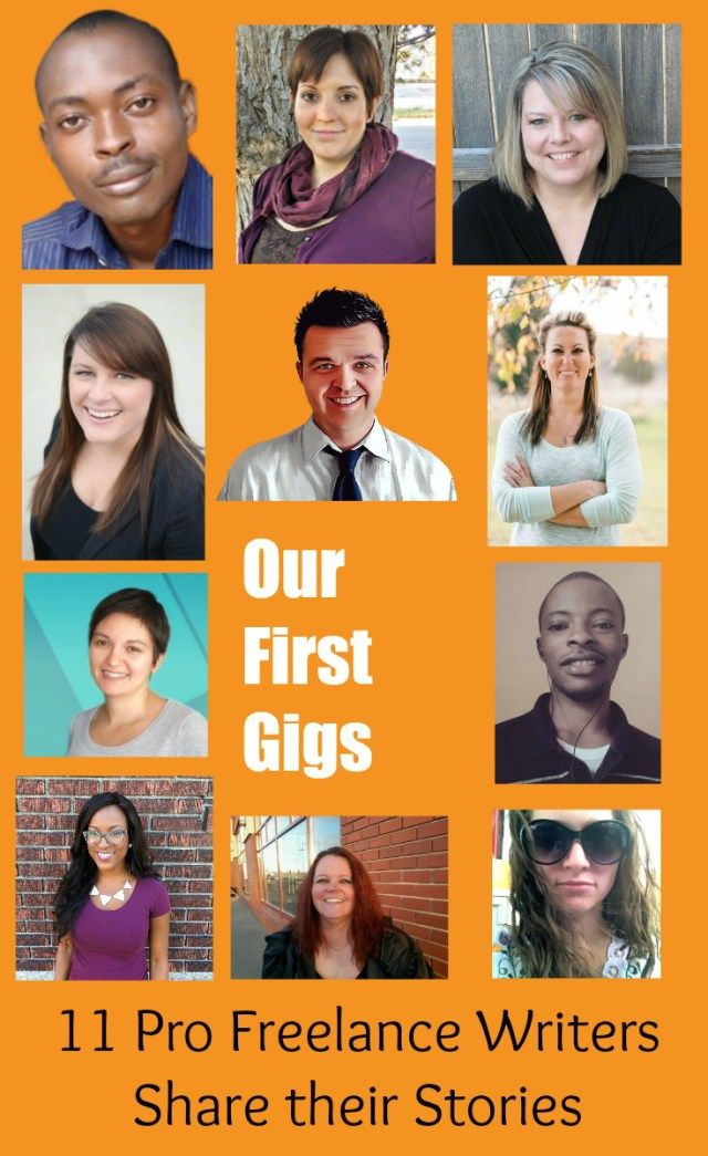 Our First Freelance Writing Gigs: 11 Professional freelancers share the stories of landing their first gigs. Gina Horkey, Bamidele Onibalusi, Carrie Smith, Brent Jones, Cheri Read, Diana Marinova, Andrea Jones, Yusuff Busayo, Ashley Gainer, Kayla Sloan