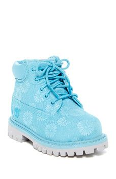 Timberland - 6in Blue Floral Classic Boot (Toddler & Little Kid)
