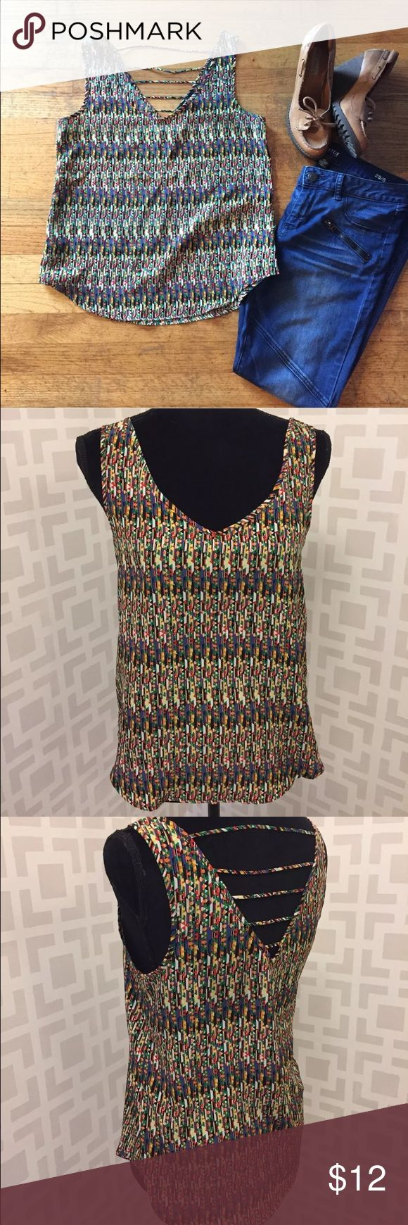 Forever 21 Aztec Strappy back Tank Blouse S Excellent condition. Length measures 24.25 inches. Pit to pit measures 17.5 inches. Forever 21 Tops Tank Tops