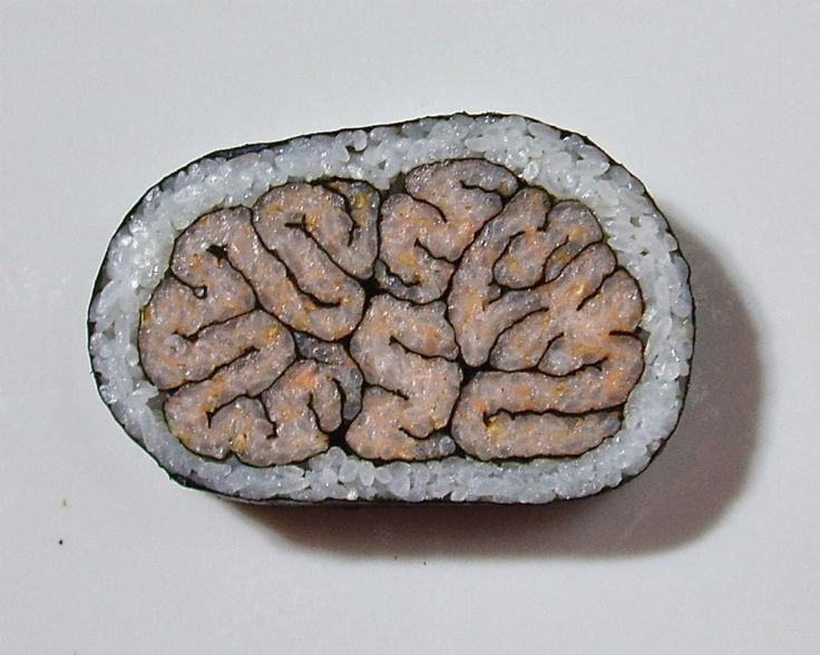 eyewire:  Smart sushi via @Jess Goldstein. Play a game to map the brain at http://eyewire.org/.  This is a uni-que way to symbolize nori-ons.