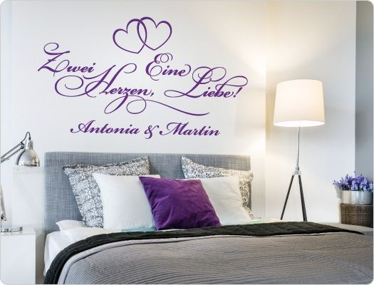 41 besten Wandsticker Liebe, Beziehung, Partnerschaft Bilder auf - wandtattoos fürs schlafzimmer