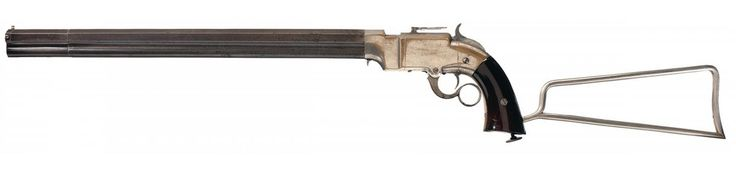 Unique Serial Number 8 Documented Volcanic Lever Action Pistol-Carbine with Detachable Stock
