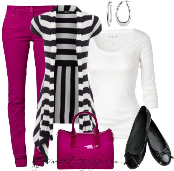 """""""Think Pink!"""" by wishlist123 ❤ liked on Polyvore"""