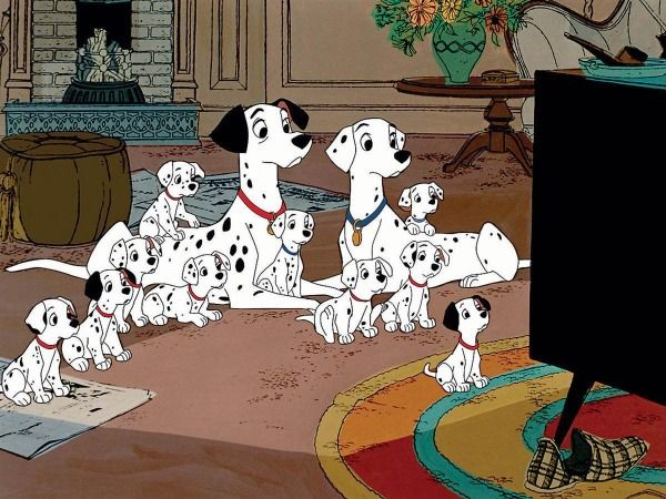 "The Dalmatian family from ""101 Dalmatians"""
