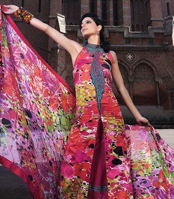 Pakistani Online Suits Images Photos Pictues Women girls Designs collection 2013: Pakistani Lawn Dresses New Images Pictures Photos Collections 2013