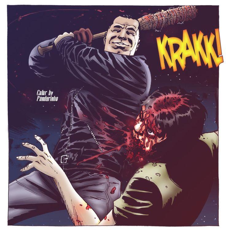 The Walking Dead - Negan Kills Glenn by TheWolfMonster
