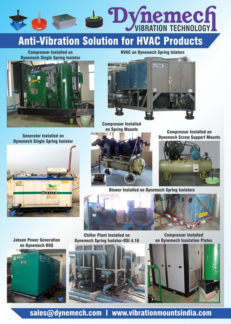#hvac #vibrationdamping products by #dynemech Spring isolators, pneumatic mountings, #vibrationdamping pads  All at one place www.vibrationmountsIndia.com  Also showcasing in #imtex2017 stall no. B106 hall no. 3c