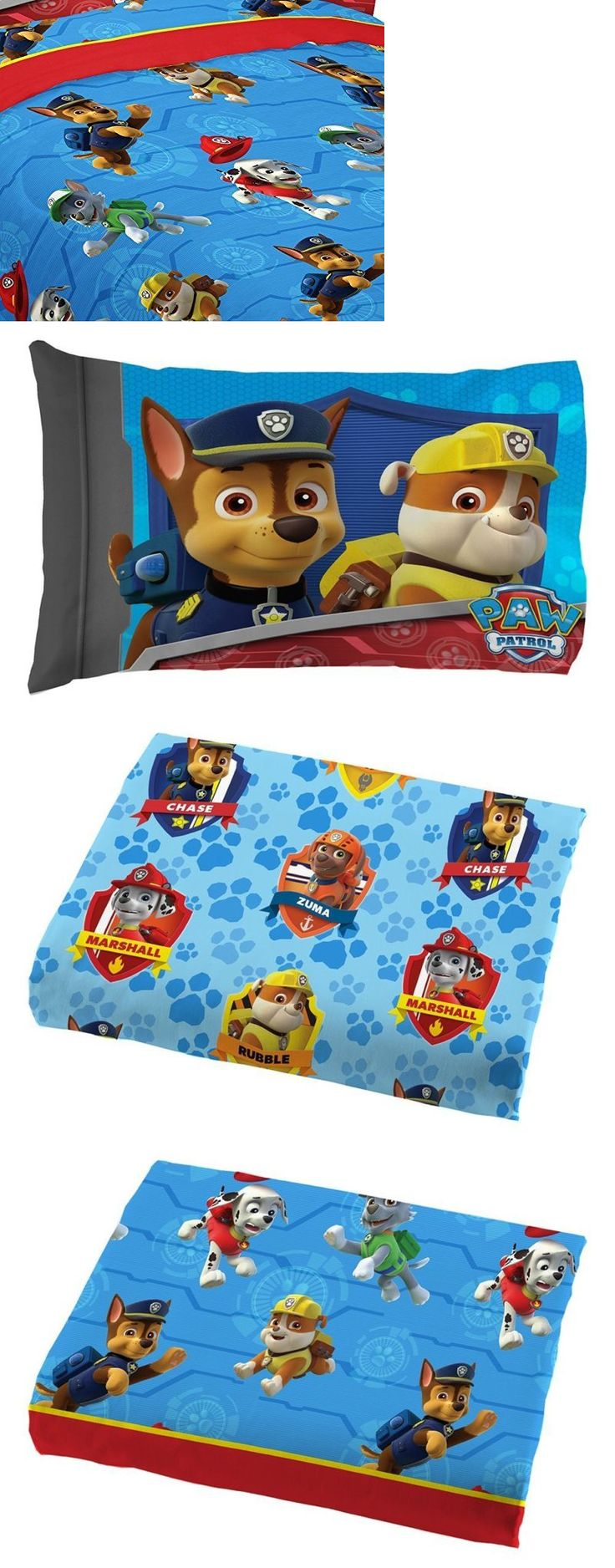 Comforters and Sets 66728: Toddler Twin Size Bed Sheets Boys Paw Patrol Rescue With Pillowcase Bedding Set -> BUY IT NOW ONLY: $31.04 on eBay!