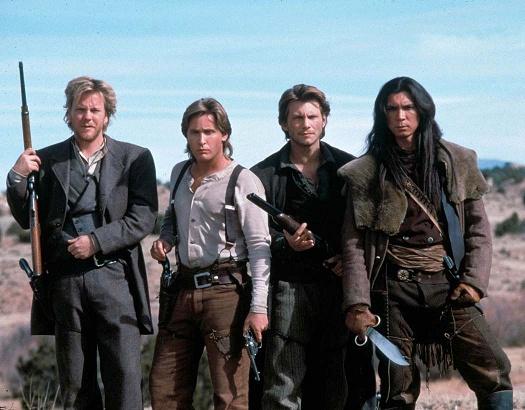 (Young Guns II): Keifer Sutherland, Emilio Estevez, Christian Slater, Lou Diamond Phillips