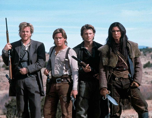 (Young Guns II): Keifer Sutherland, Emilio Estevez, Christian Slater, Lou Diamond Phillips