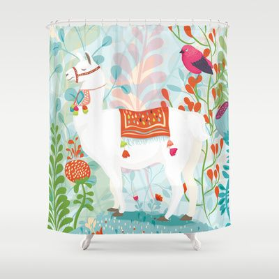 Llama Shower Curtain By The Wildest Little Things 68 00