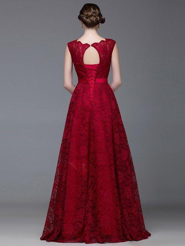 Timeless Straps A Line Long Lace Evening Dress Lace Evening Dress Long Lace Evening Dresses Evening Dress Floor Length