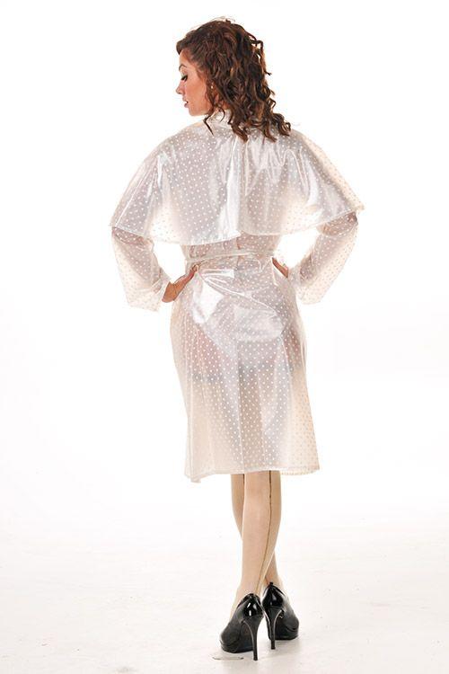 KEMO Cyberfashion Onlineshop für Mode und Regenkleidung aus PVC-PVC Regenmantel Landhausstil