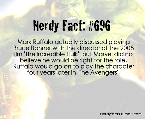 And in my opinion Mark Ruffalo played a much better Bruce Banner than Edward Norton did!
