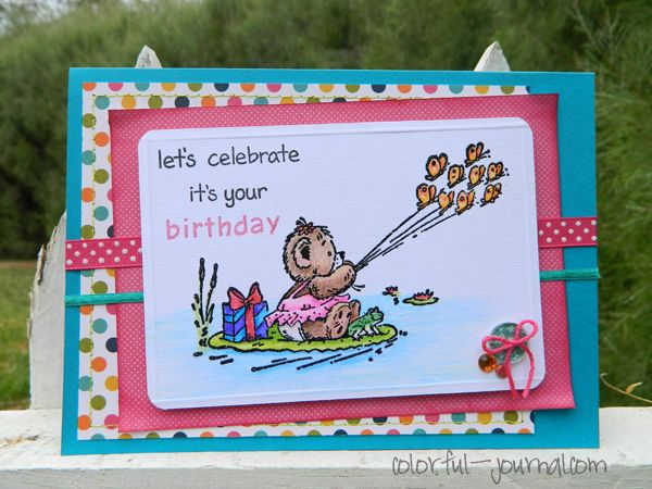 happy birthday card with @pebblesinc paper pad (sunny side collection) @ephifanycrafts @pennyblack stamps