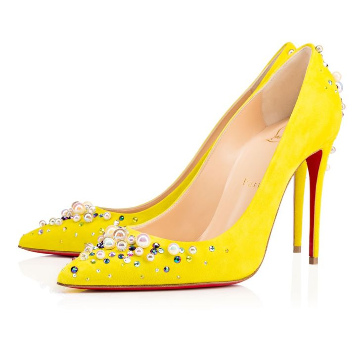 Women Shoes - Candidate 100 Veau Velours Strass - Christian Louboutin