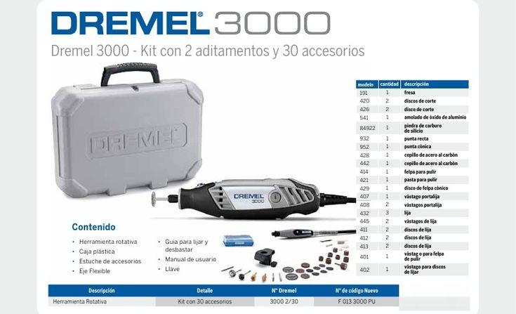 Las 25 mejores ideas sobre dremel 3000 en pinterest for Dremel 3000 accesorios