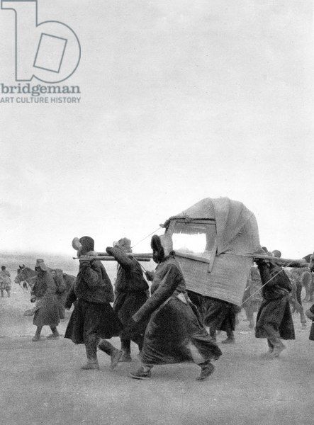 Escape of Dalai Lama (Tenzin Gyatso)in India from Tibet in 1959 during chinese occupation