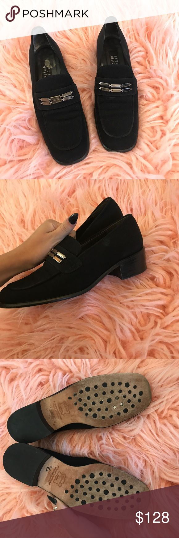 Stuart weitzman heeled loafers ⚡️NO trades  ⚡️open to ALL offers!  ⚡️ bundle for MAJOR discounts!  ⚡️feel free to ask any questions ⚡️ I will not respond to offers in the comments, please use the offer button for all offers.  ⚡️Please only ask for model photos if you are very interested!  ⚡️All sales are final and all offers are binding.  ⚡️ If I miss your comment, please comment again! Stuart Weitzman Shoes Flats & Loafers