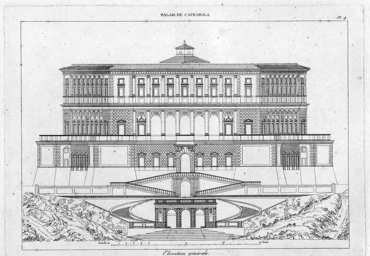 Elevation of the Villa Farnese, Caprarola