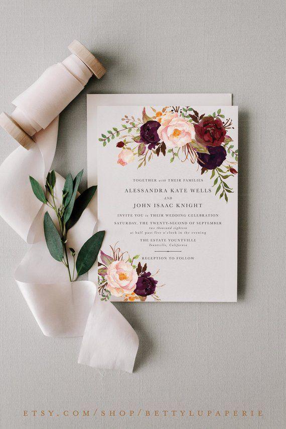 Bohemian Wedding Invitation Suite Boho Wedding Invite Boho Etsy Wedding Invitations Boho Bohemian Wedding Invitations Boho Chic Wedding Invitations