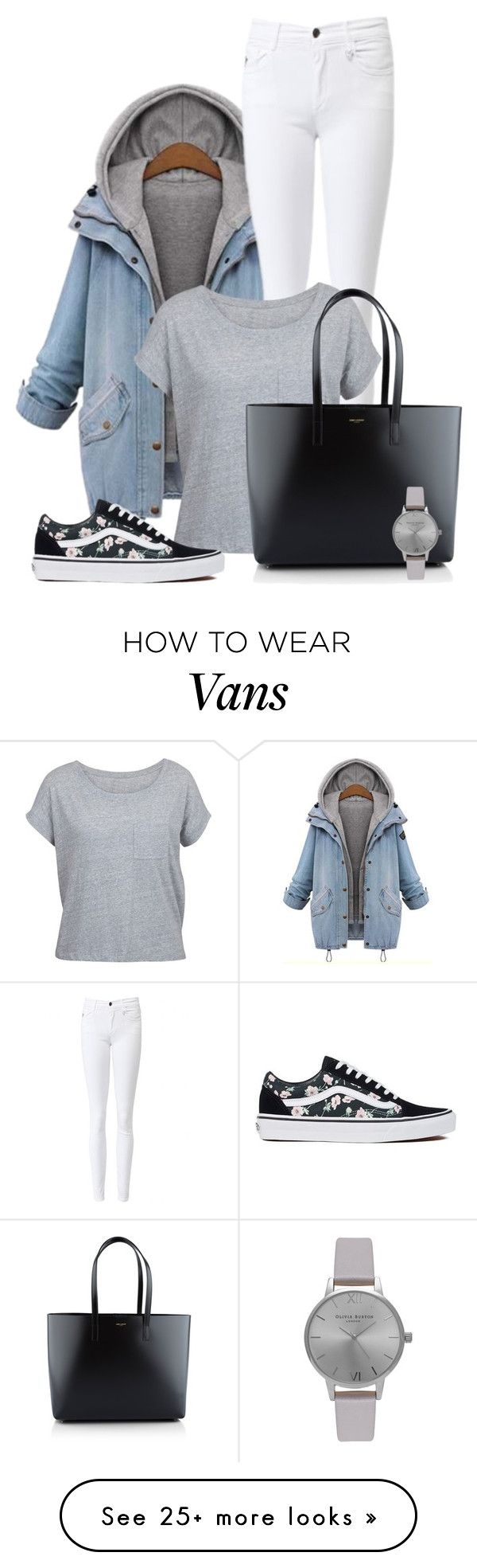"""Grey"" by kingsamuel on Polyvore featuring Amaya, Vans, Yves Saint Laurent and Olivia Burton"