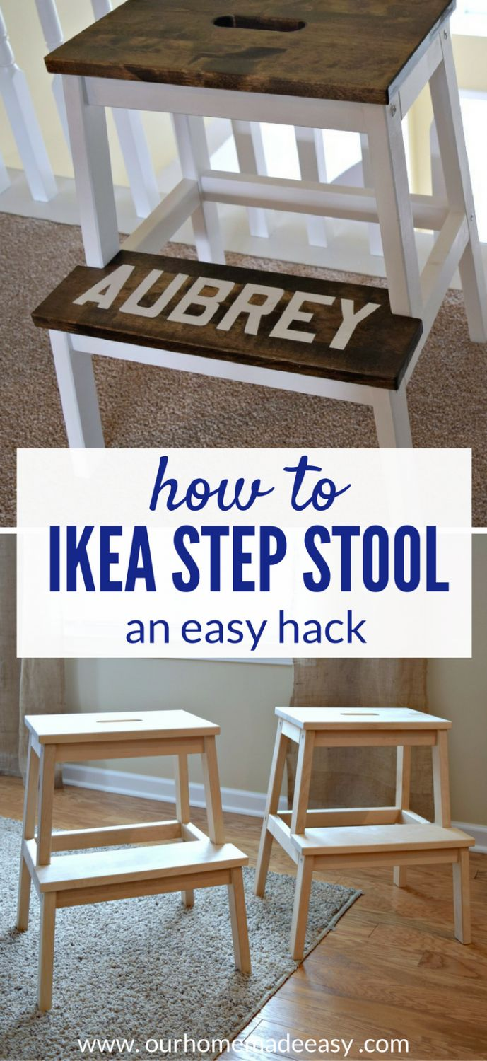 Wooden dollhouse step foot stool wood footstool stepstool furniture - An Easy Ikea Hack For A Few Dollars An Easy Ikea Hack This Step Stool