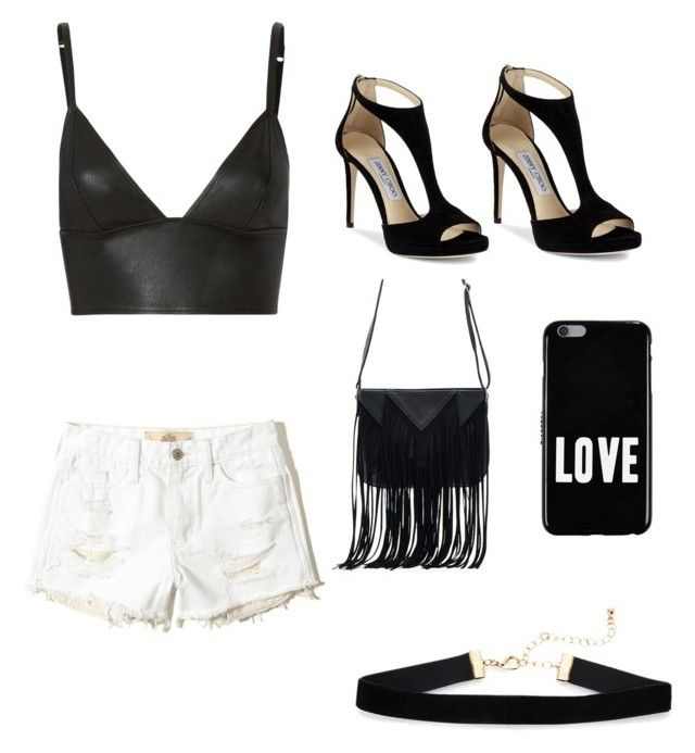"""""""Untitled #13"""" by angeline-mewengkang on Polyvore featuring T By Alexander Wang, Hollister Co., Jimmy Choo, WithChic and Givenchy"""