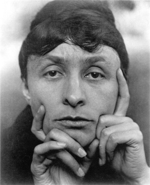 Georgia O'Keeffe in 1931 photo by Alfred Stieglitz