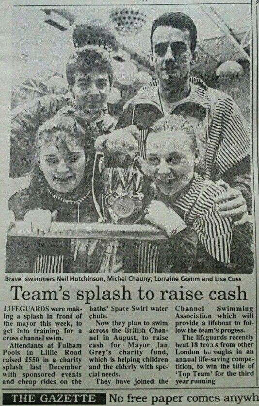 Fulham Pools Top Team - Lifesaving - with Lorraine Gomm, Neil Hutchinson, Michel Chauny & Lisa Cuss - London 1991