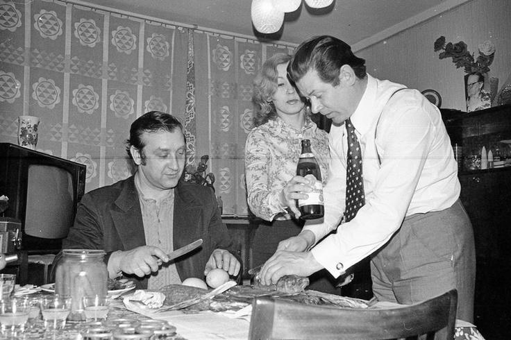 Soviet dinner party.