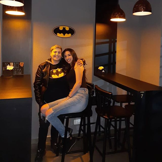 In a batcave out there with my love. #couple #casal #amor #instagood #brazil