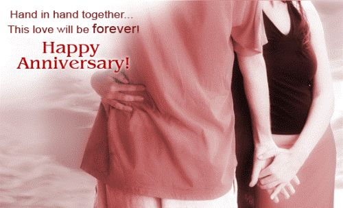 """""""Hand in hand together…This love will be forever."""" #wedding #anniversary #wishes #quotes"""