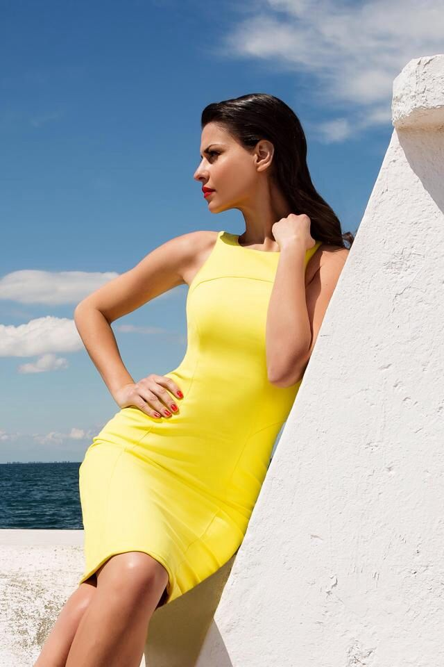 Yellow dress.. Perfect for summer