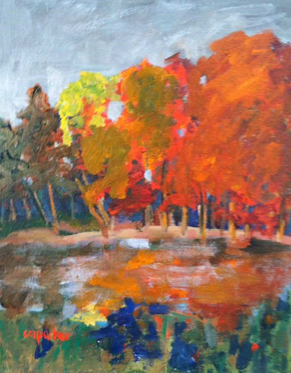 Autumn Landscape wall candy original by modernimpressionist