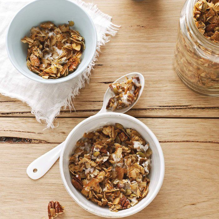 Coconut, cinnamon, and nuts make this granola from Sarah Wilson, author of I Quit Sugar, satisfyingly crunchy and sweet. - Shape.com