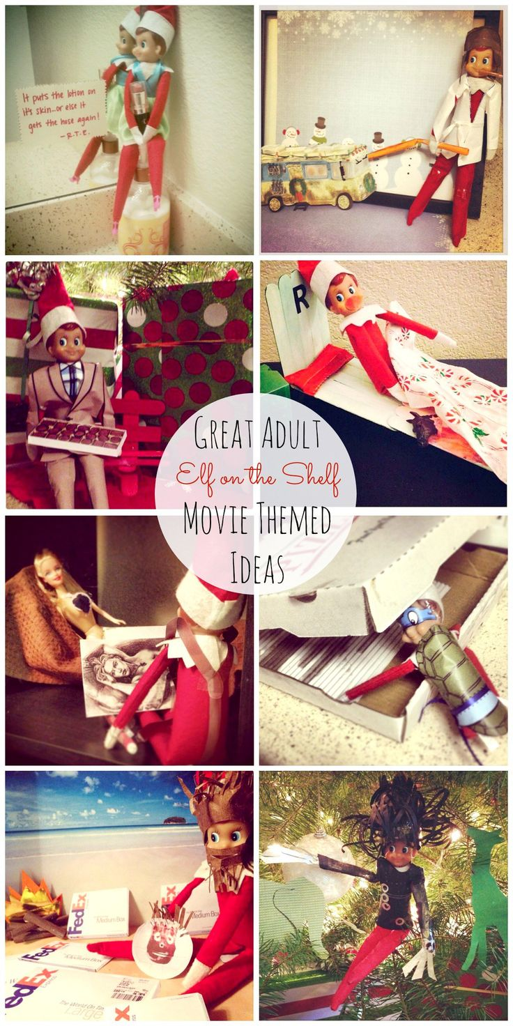 20 New Adult Elf On The Shelf Movie Themed Ideas Gift