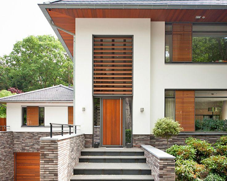 Louvretec fixed aluminium louvres + sliding shutters with DecoWood (marine grade powder coating - wood grain finish)