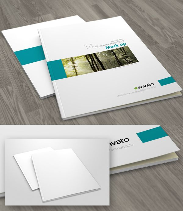 Free A4 Brochure / Magazine Cover Mockup | Mockup Templates for