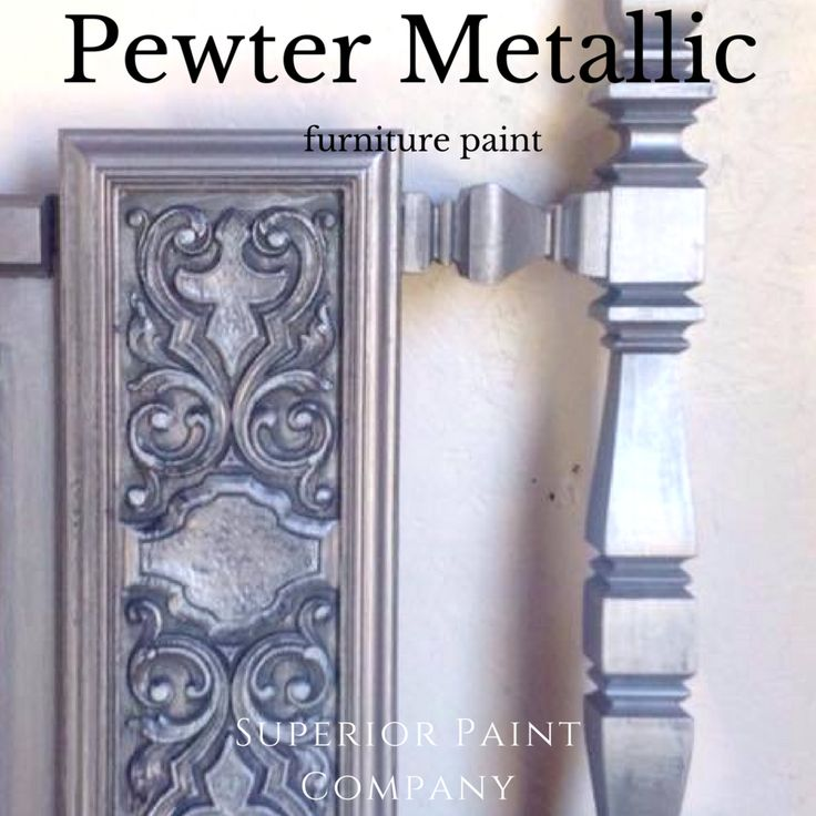 Modern Masters Pewter Metallic Painted headboard from The Refinish Line