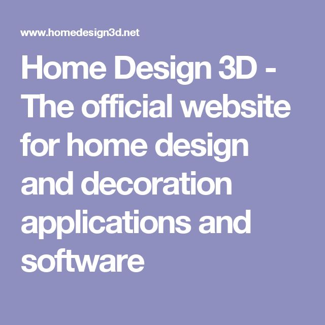 Home Design 3D - The official website for home design and decoration  applications and software