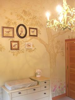 nursery, nursery tree mural, tree mural, birds, babies room by Aaron Christensen