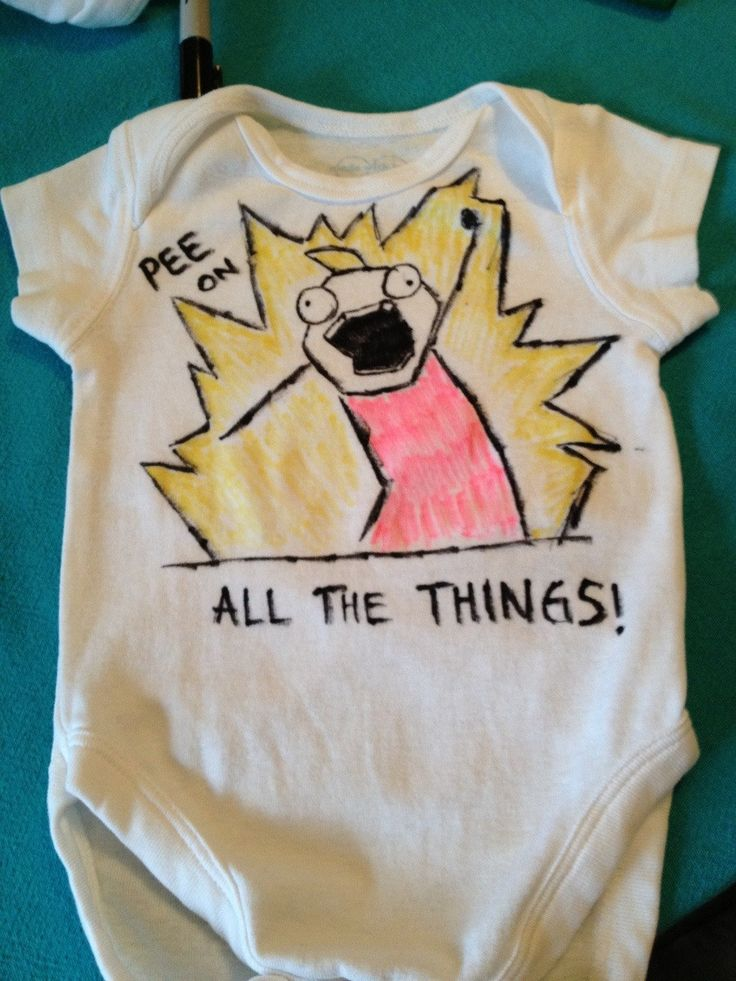 """I went to a baby shower this weekend. Not many others appreciated the onesie I made :(""   - Imgur"