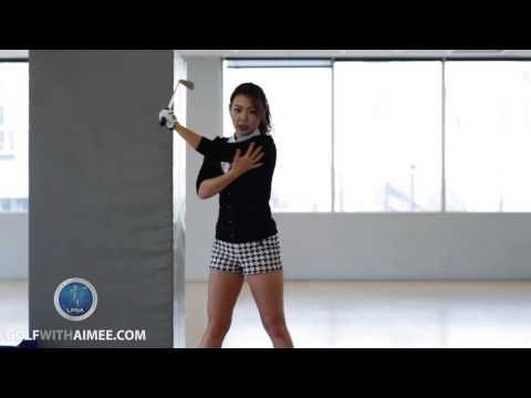[Golf with Aimee] Aimee's Golf Lesson 021: Power Down Swing - YouTube