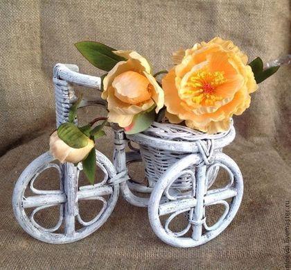 Кашпо Велосипед из ротанга - Плетеное кашпо,велосипед кашпо,кашпо велосипед