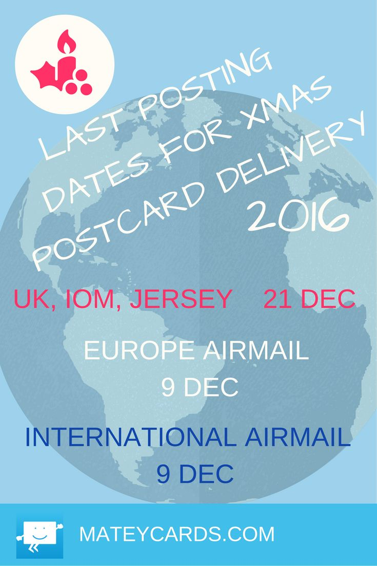 Upload your favourite photo to make a real postcard to mail to friends and family this Xmas. You  will need to create your card on line by these dates for us to print and post it for you to ensure it gets there on time.....Happy Holidays!